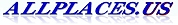 Allplaces.us text logo